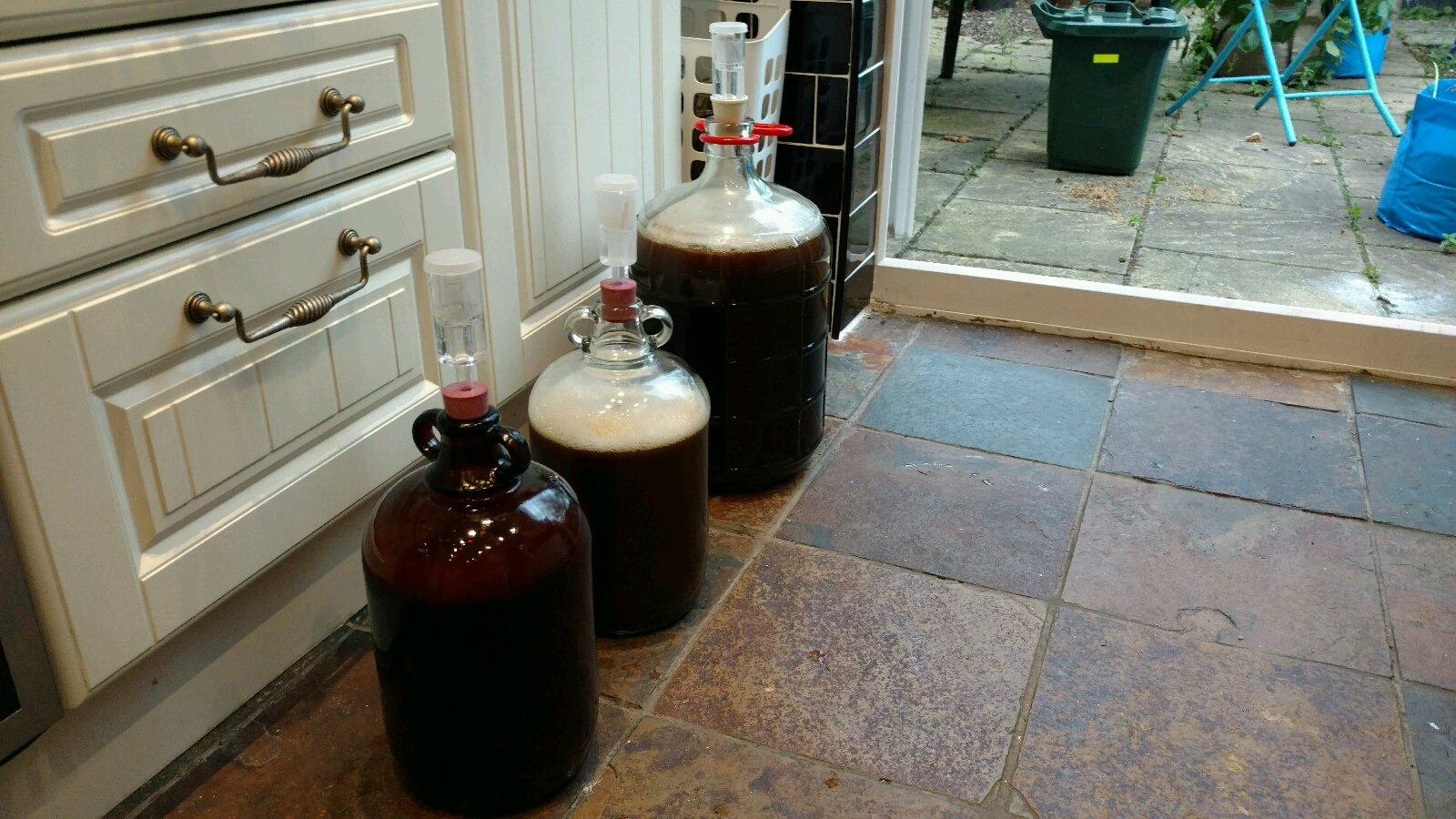 Blood beers in fermentors